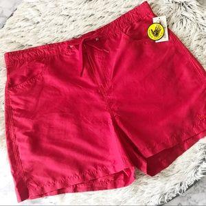 NWT Body Glove Red Drawstring Board Shorts